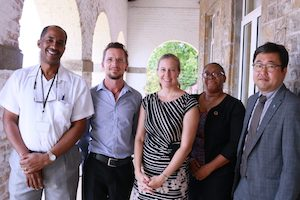 Kristin with OECS and GGGI staff members