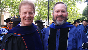 Professor Deason with Doctoral Graduate Steven Burns