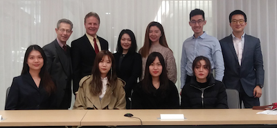 Professors Cascio and Deason with some of the Chinese seminar participants
