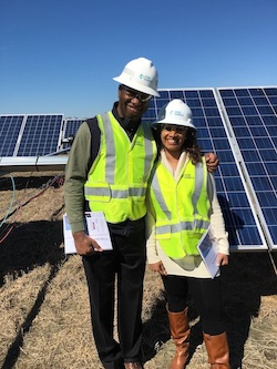 Professors Shittu and LeBlanc at Capital Partners Solar Project