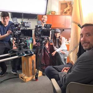 Filming of Interview with Keynote Speaker Dr. Travis Reider