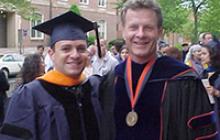 Juan Pablo and Prof. Deason at Juan's Doctoral Graduation in 2000