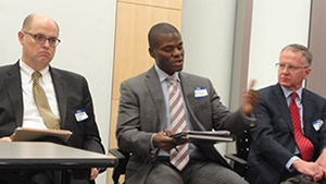 EEM Professor and EEMI affiliate, Royce Francis responds to a question at the PPP Symposium.