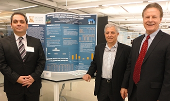 EEM Doctoral candidate Mohammed Qaradaghi, GW Asst VP for Research Tom Russo and Prof. Deason