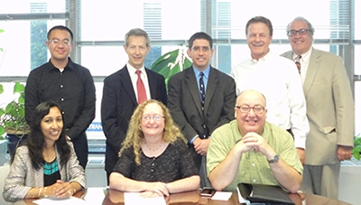 SEAS Associate Dean Rumana Riffat and Profs. Cascio, Deason and Beehler meet with ARTBA officials.