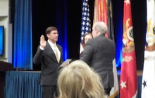 Alex is sworn in by Secretary of the Army Mark Esper