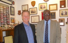 Prof. Deason meets with EEM grad Dr. Hilton McDavid, now with the University of the West Indies